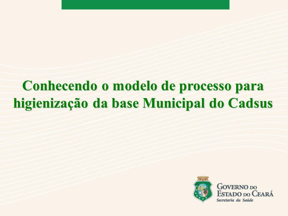 Conhecendo o modelo de processo para higienização da base Municipal do Cadsus