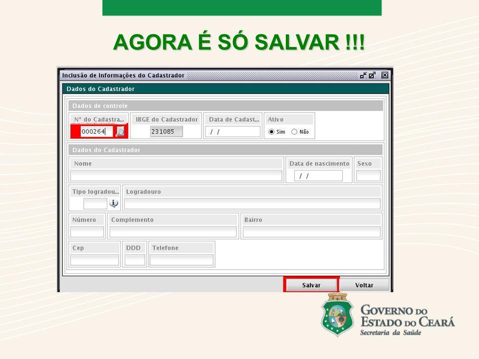 AGORA É SÓ SALVAR !!!