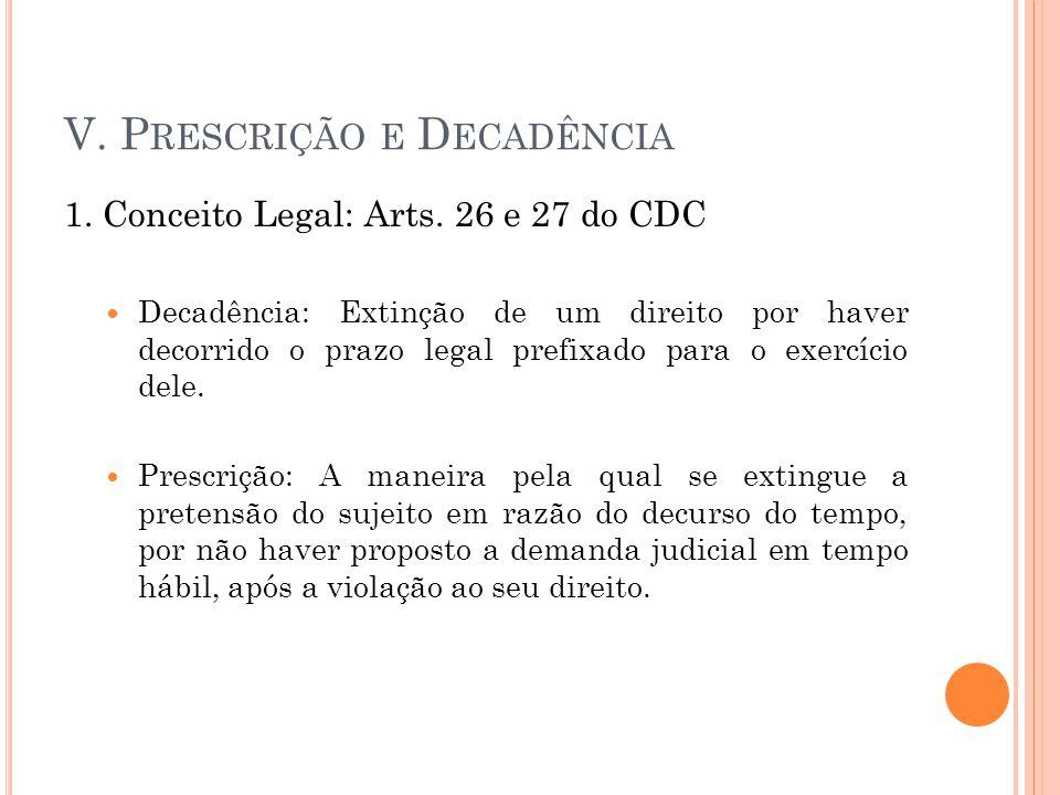 V. Prescrição e Decadência