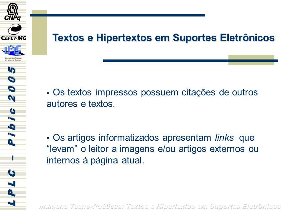 Textos e Hipertextos em Suportes Eletrônicos