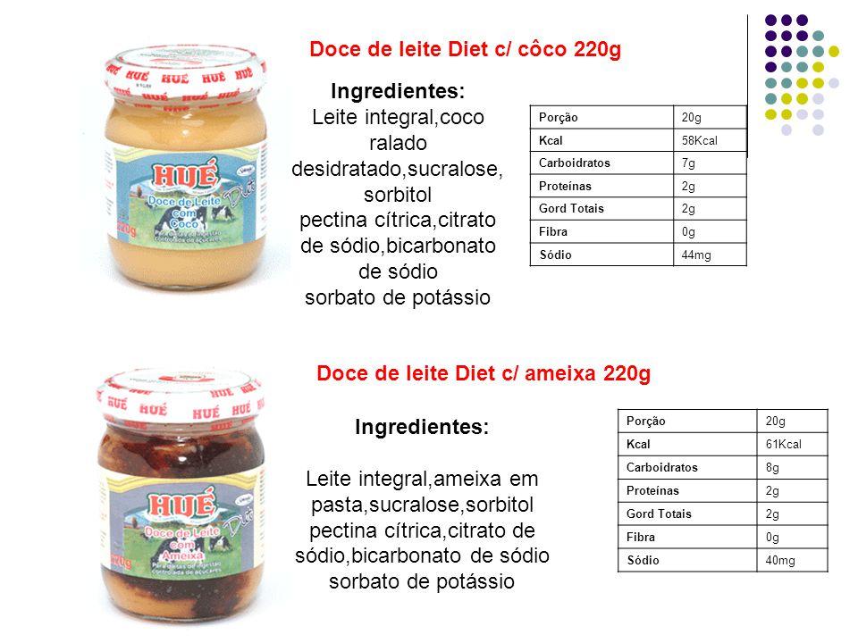 Doce de leite Diet c/ côco 220g
