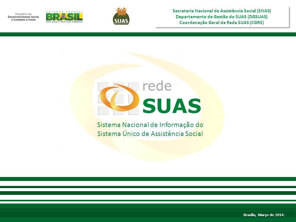 SUAS rede Sistema Nacional de Informação do