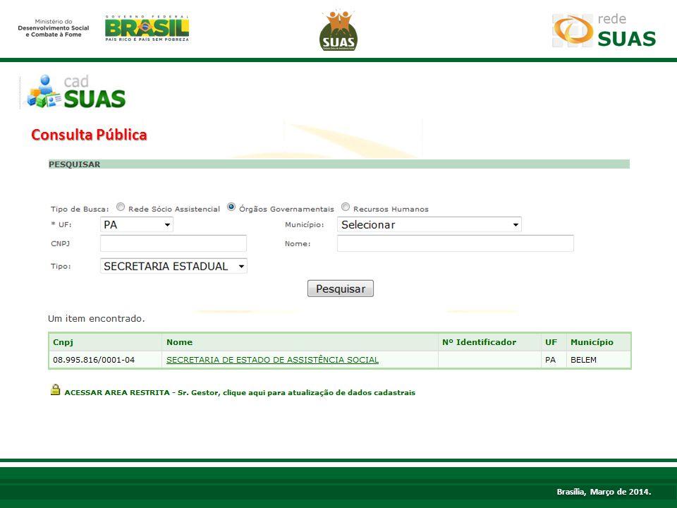 TÍTULO Consulta Pública Brasília, Março de 2014.