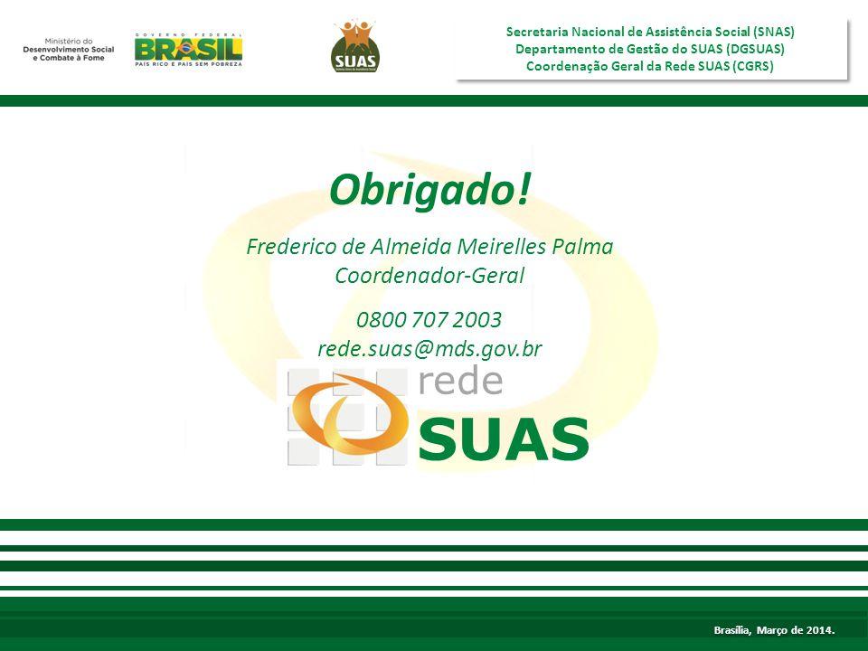 SUAS Obrigado! rede Frederico de Almeida Meirelles Palma