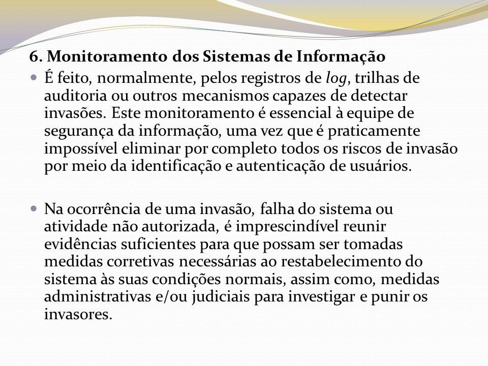6. Monitoramento dos Sistemas de Informação