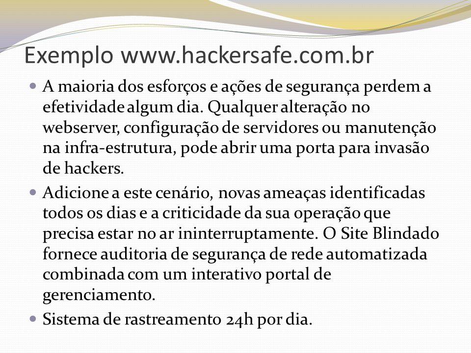 Exemplo www.hackersafe.com.br