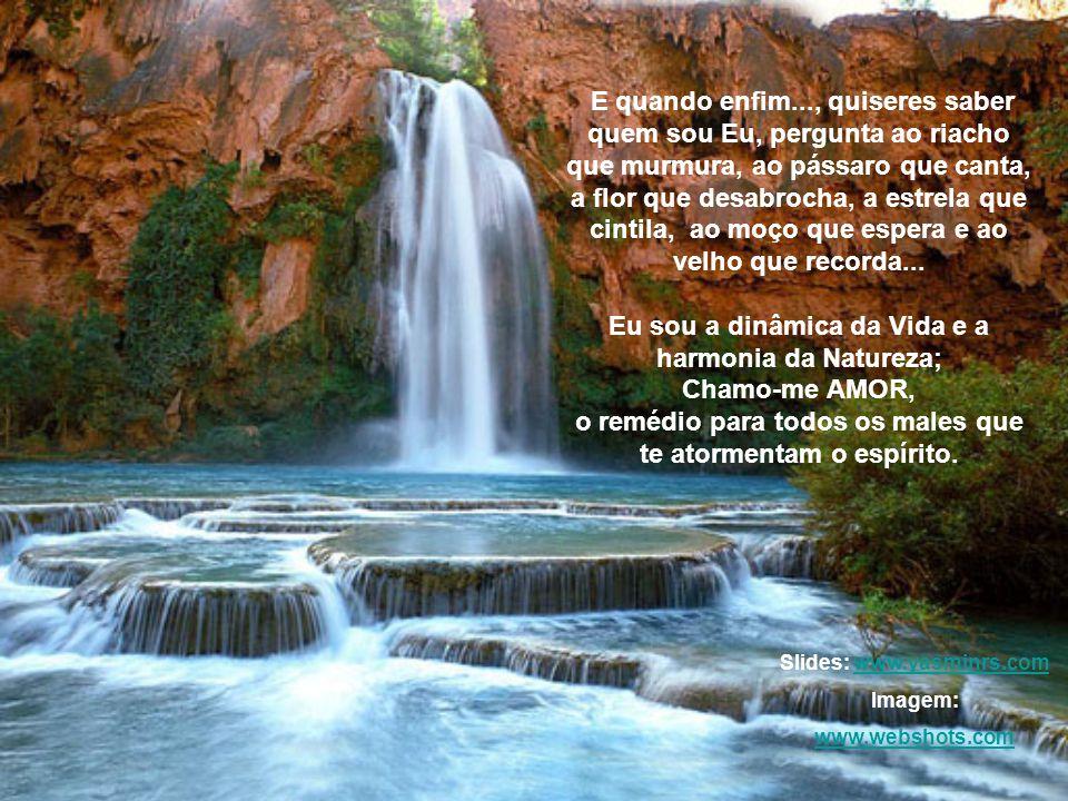 Eu sou a dinâmica da Vida e a harmonia da Natureza; Chamo-me AMOR,