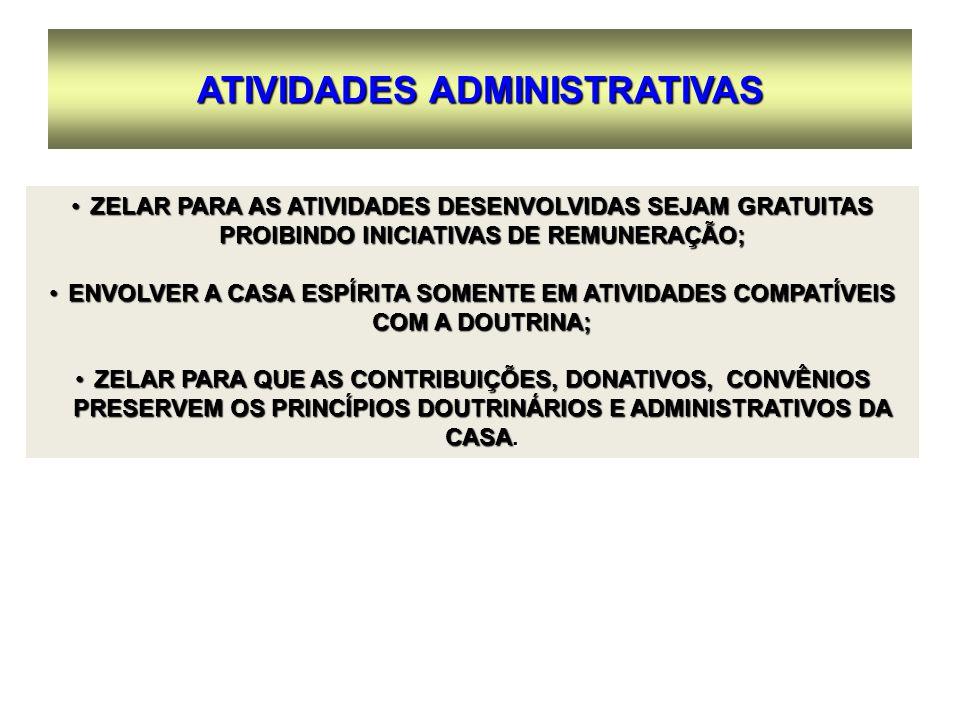 ATIVIDADES ADMINISTRATIVAS
