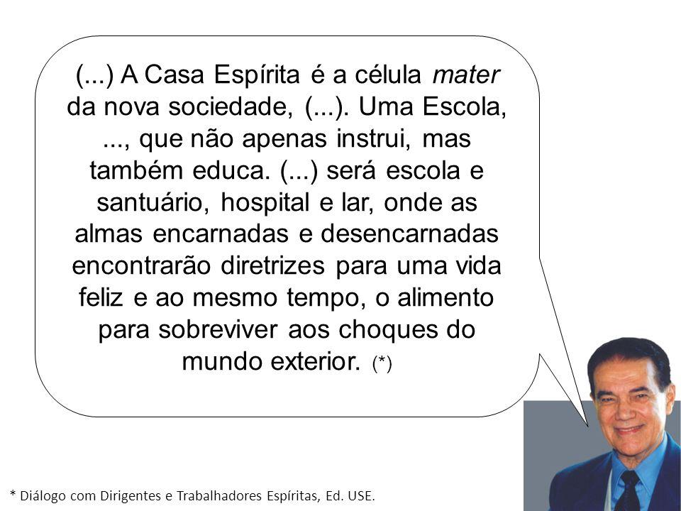 (. ) A Casa Espírita é a célula mater da nova sociedade, (. )