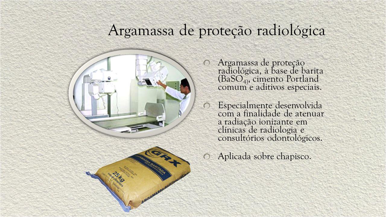 Argamassa de proteção radiológica