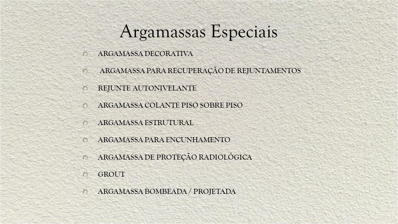 Argamassas Especiais ARGAMASSA DECORATIVA