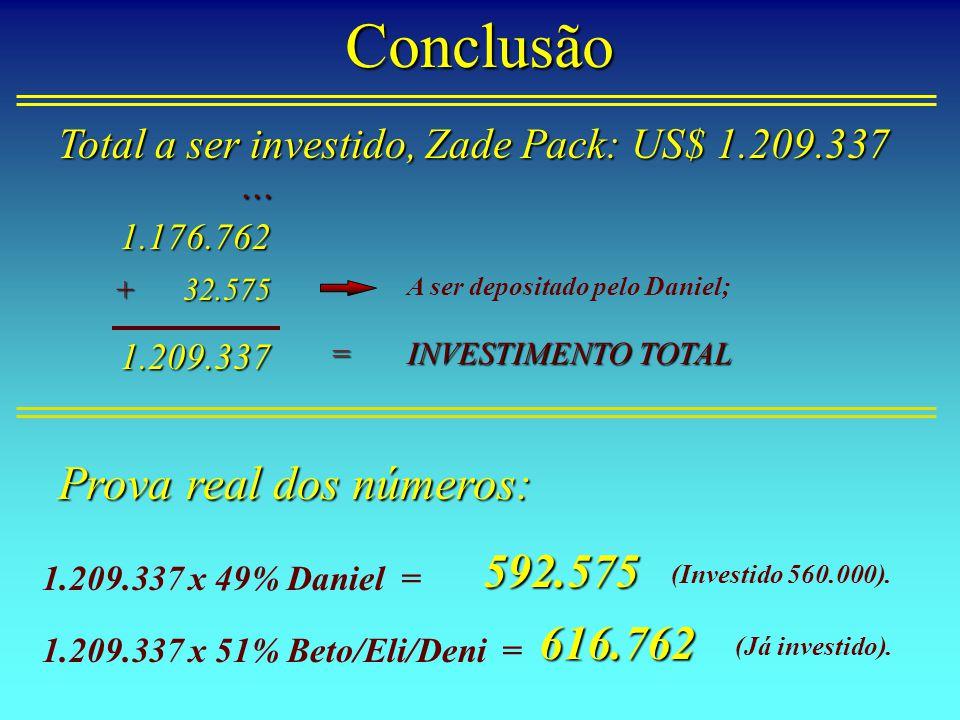 Conclusão Prova real dos números: 592.575 616.762