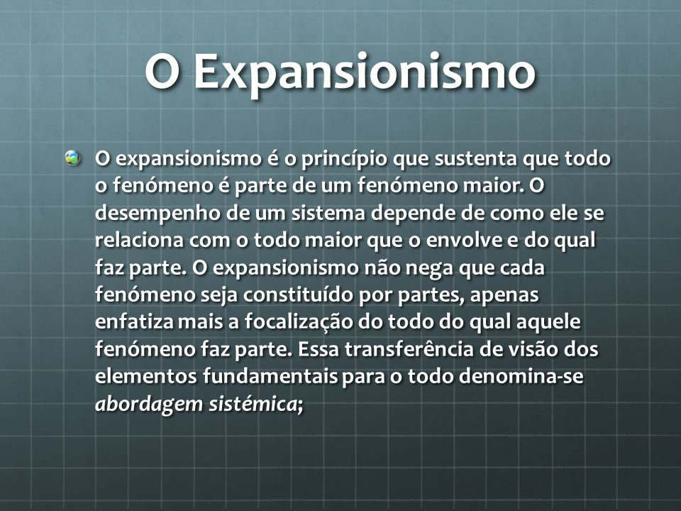 O Expansionismo