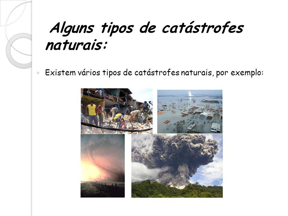 Alguns tipos de catástrofes naturais: