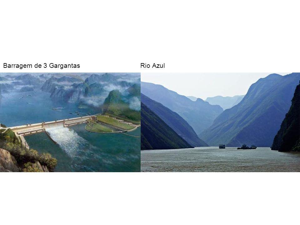 Barragem de 3 Gargantas Rio Azul