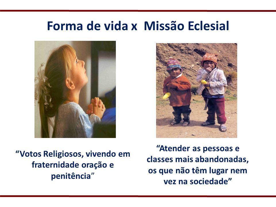 Forma de vida x Missão Eclesial