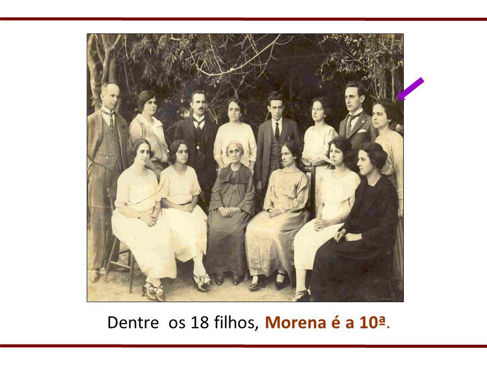 Dentre os 18 filhos, Morena é a 10ª.