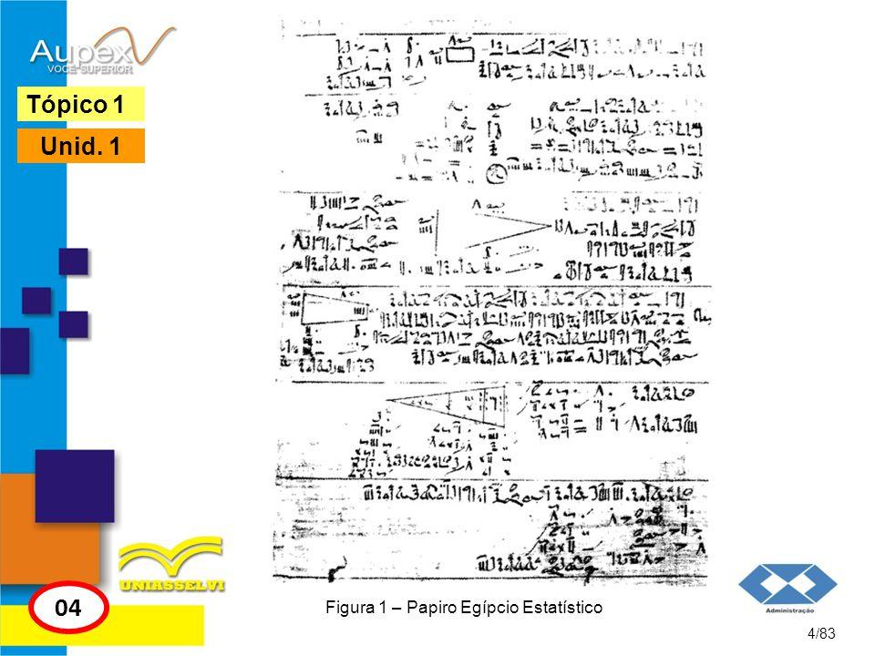 Figura 1 – Papiro Egípcio Estatístico
