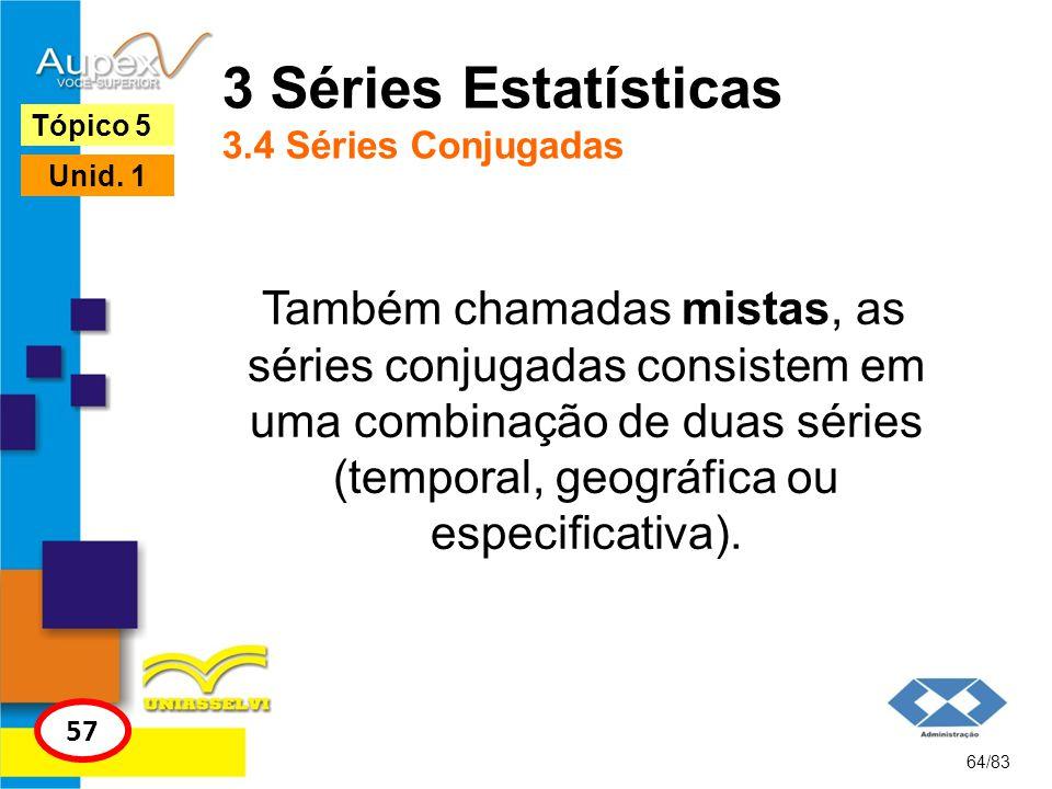 3 Séries Estatísticas 3.4 Séries Conjugadas