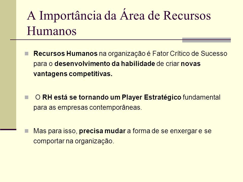 A Importância da Área de Recursos Humanos