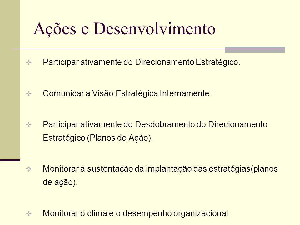 Ações e Desenvolvimento