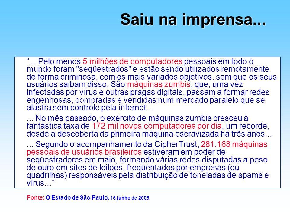Fonte: O Estado de São Paulo, 15 junho de 2005
