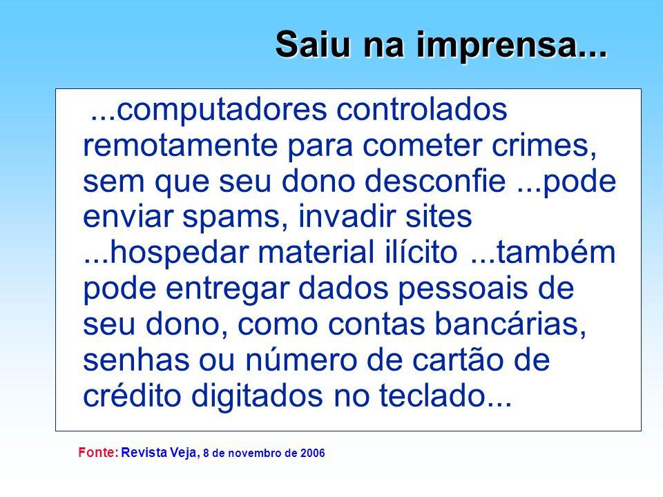 Fonte: Revista Veja, 8 de novembro de 2006