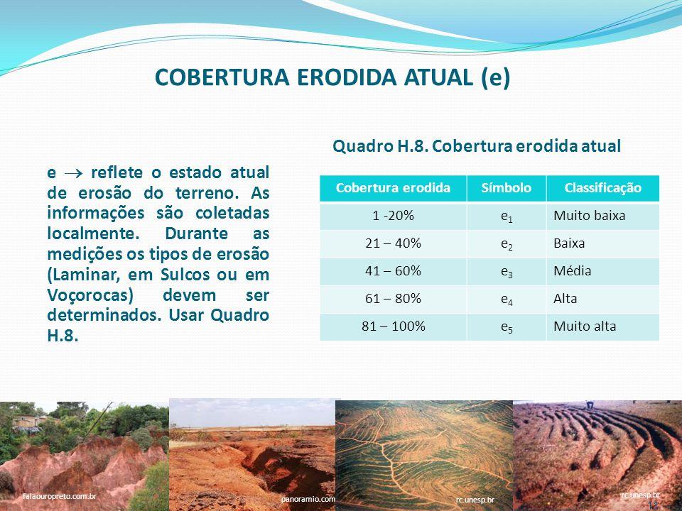 COBERTURA ERODIDA ATUAL (e)