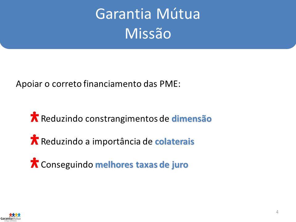 Garantia Mútua Missão Apoiar o correto financiamento das PME:
