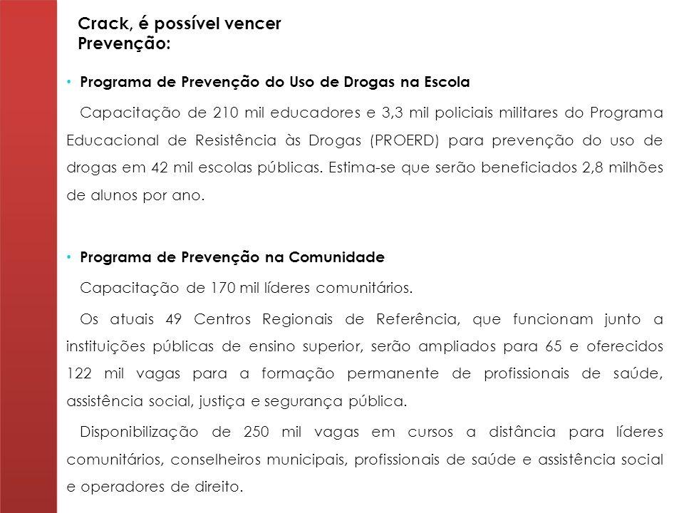 Crack, é possível vencer Prevenção: