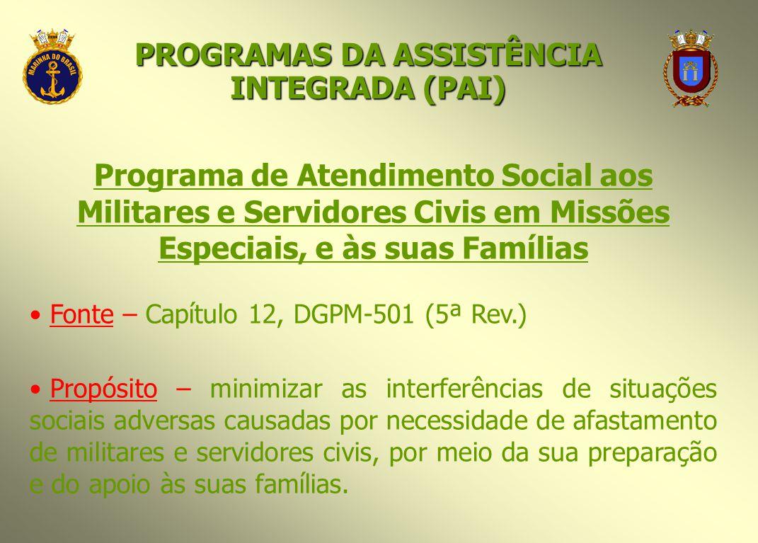 PROGRAMAS DA ASSISTÊNCIA INTEGRADA (PAI)