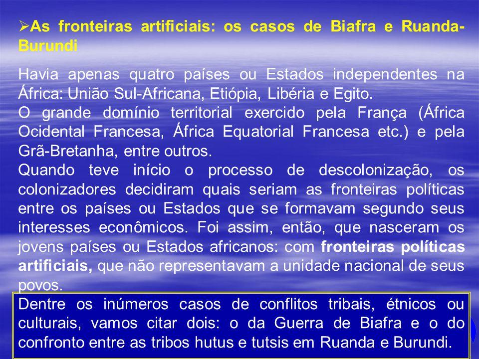 As fronteiras artificiais: os casos de Biafra e Ruanda-Burundi