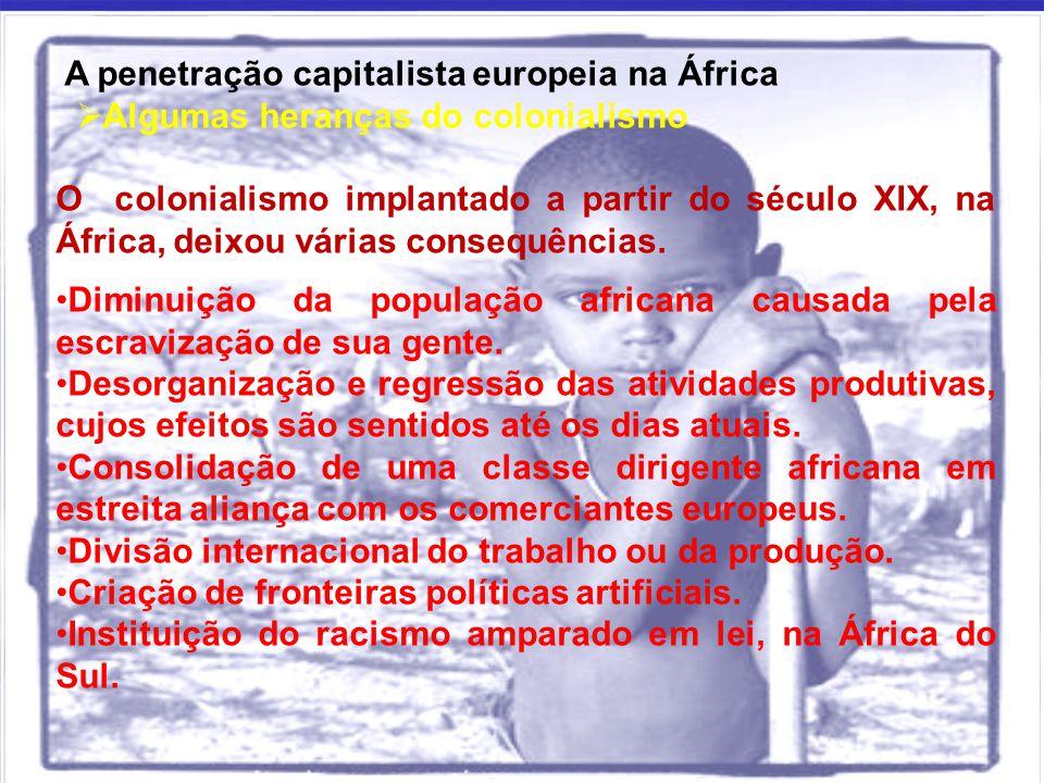 A penetração capitalista europeia na África