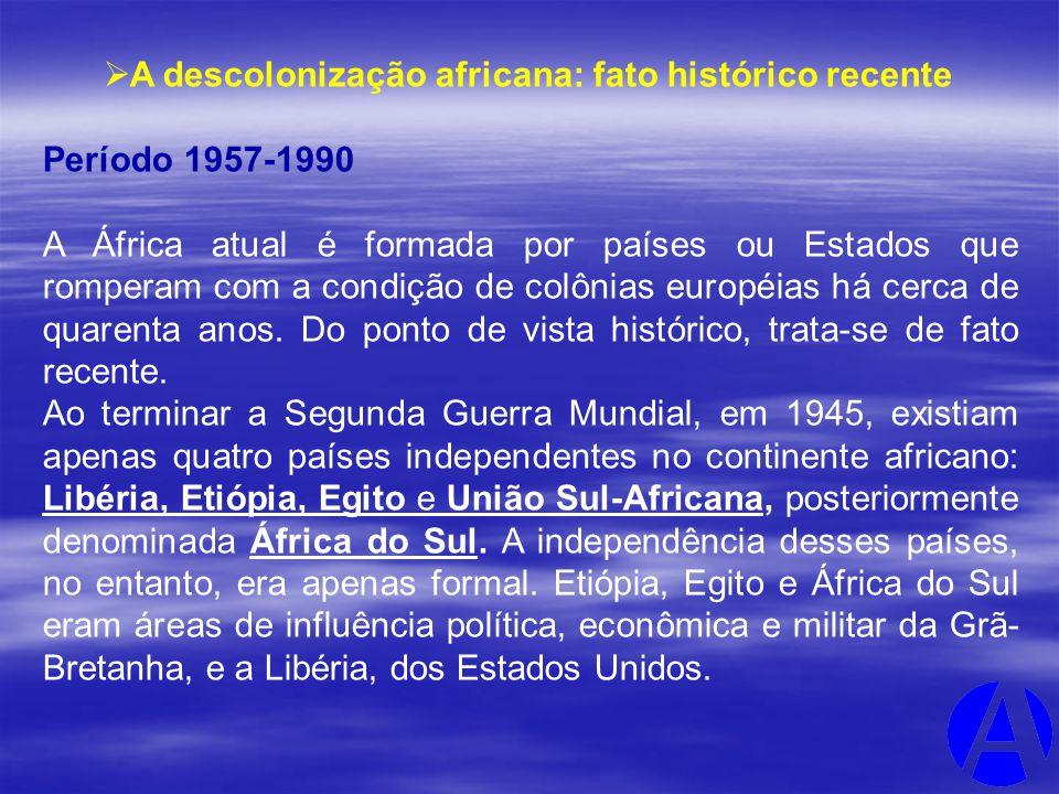A descolonização africana: fato histórico recente