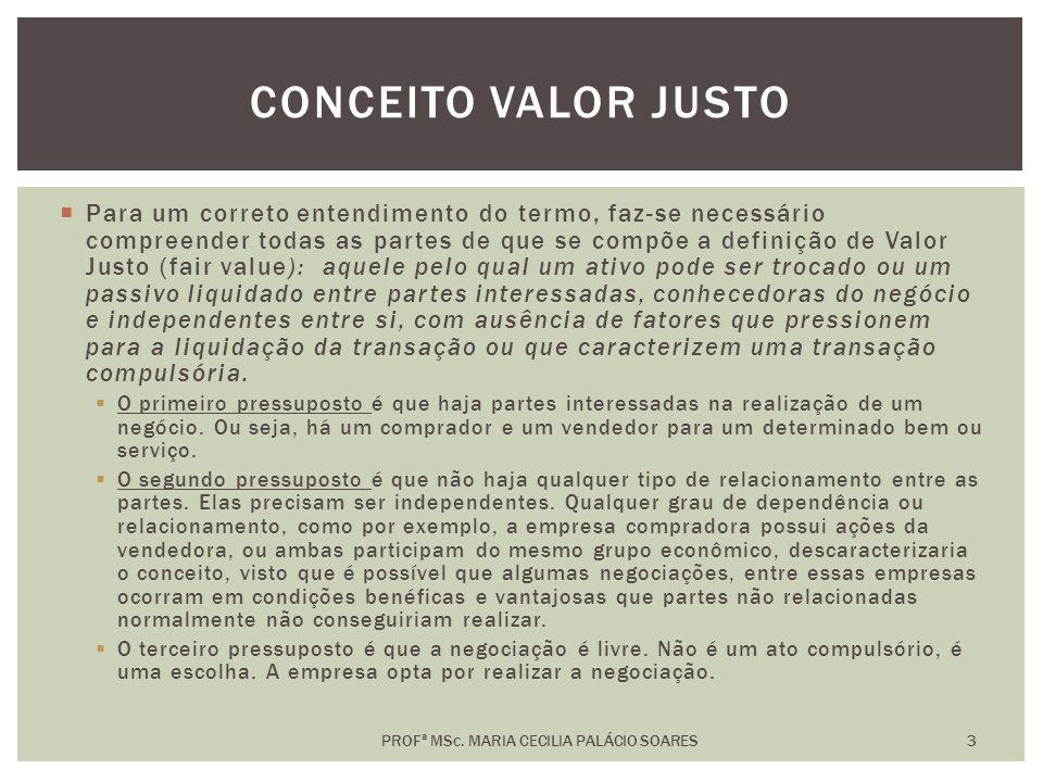 PROFª MSc. MARIA CECILIA PALÁCIO SOARES