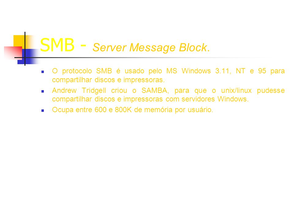 SMB - Server Message Block.
