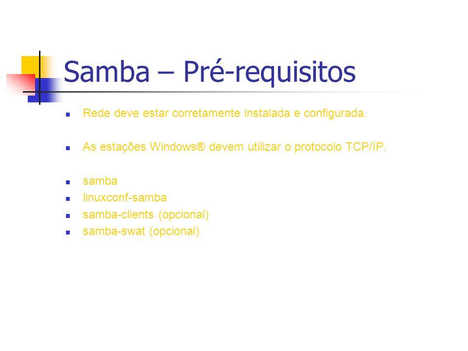 Samba – Pré-requisitos