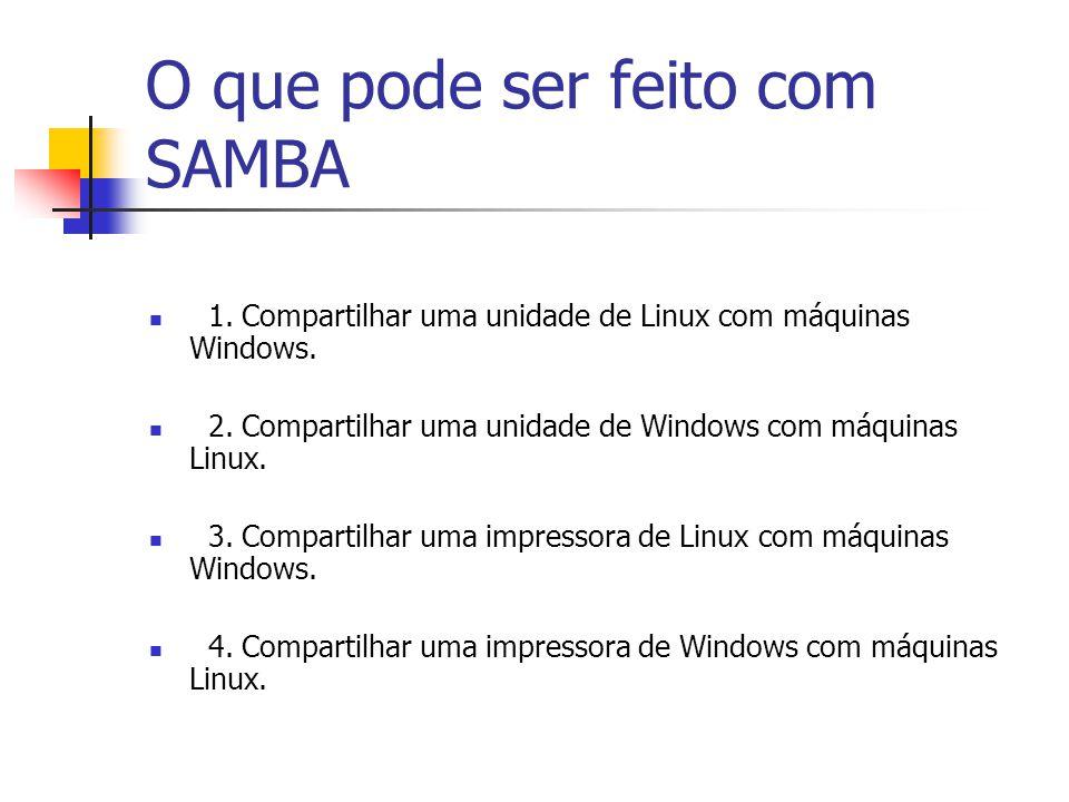 O que pode ser feito com SAMBA