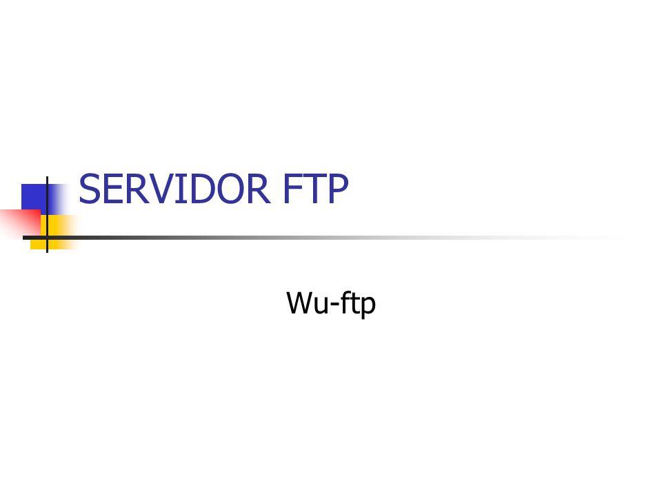 SERVIDOR FTP Wu-ftp