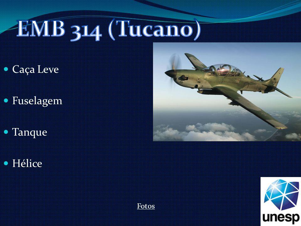 EMB 314 (Tucano) Caça Leve Fuselagem Tanque Hélice Fotos