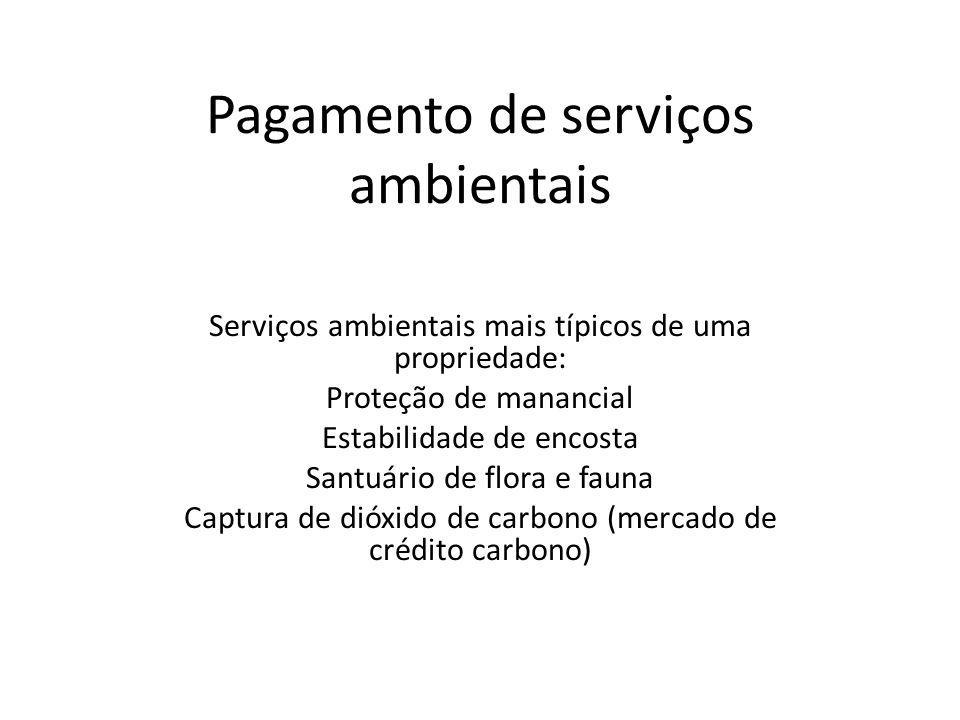 Pagamento de serviços ambientais