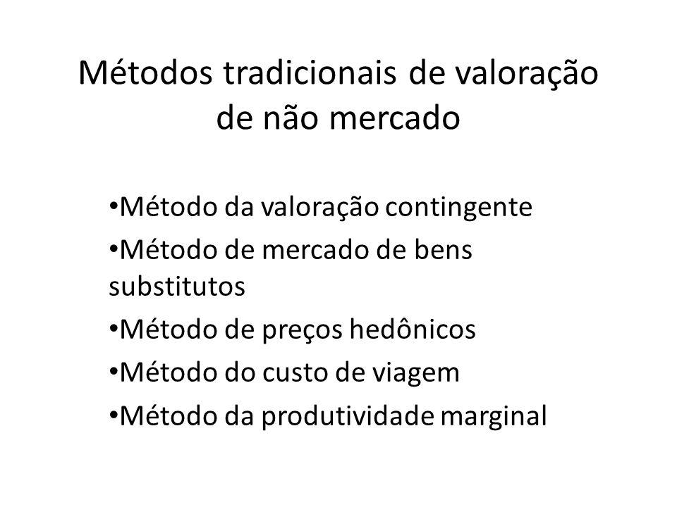 Métodos tradicionais de valoração de não mercado