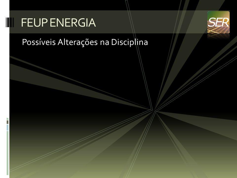 FEUP ENERGIA Possíveis Alterações na Disciplina