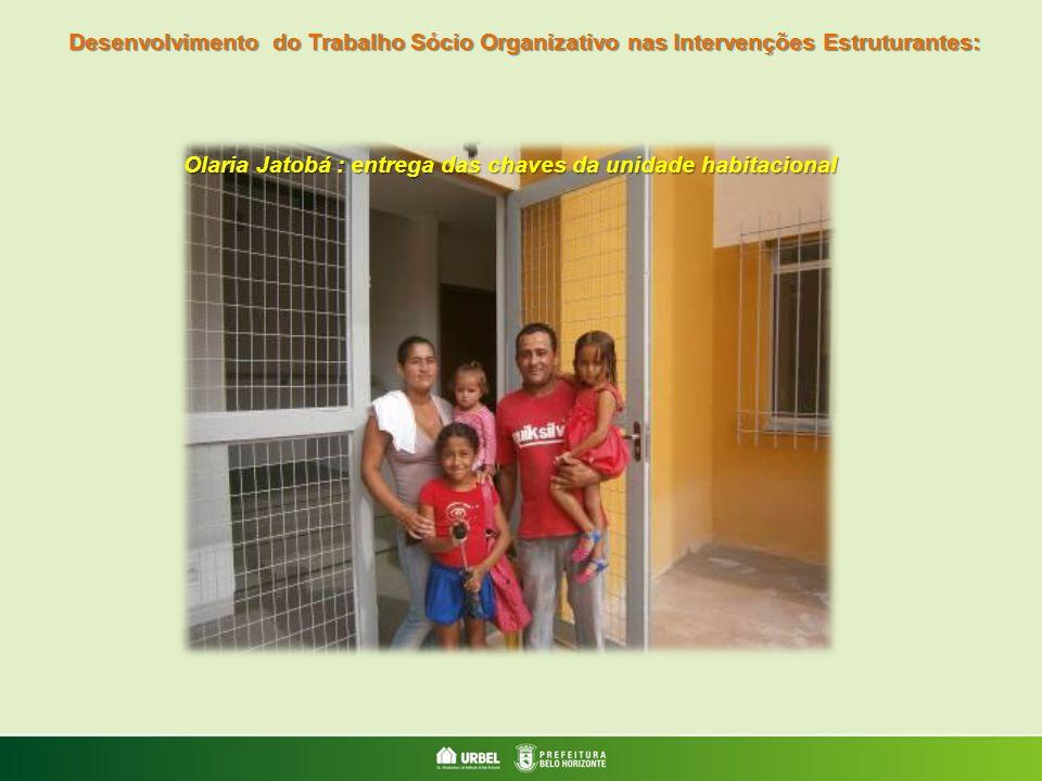 Olaria Jatobá : entrega das chaves da unidade habitacional