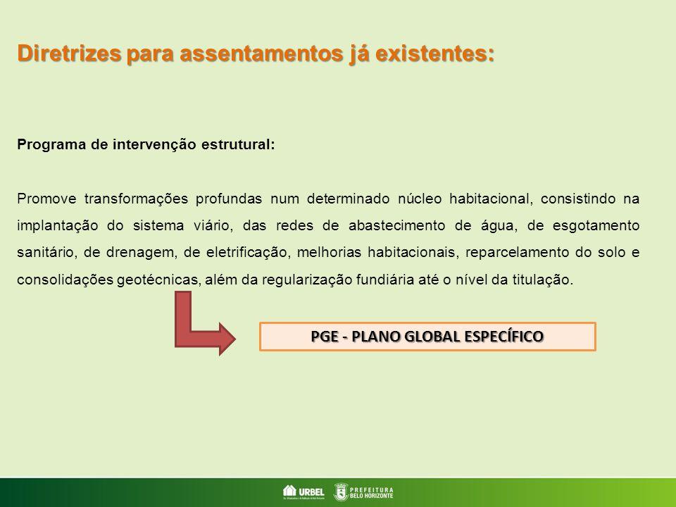 PGE - PLANO GLOBAL ESPECÍFICO