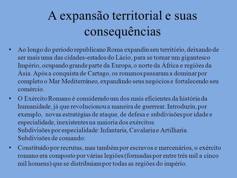A expansão territorial e suas consequências