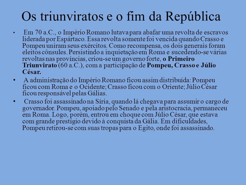 Os triunviratos e o fim da República