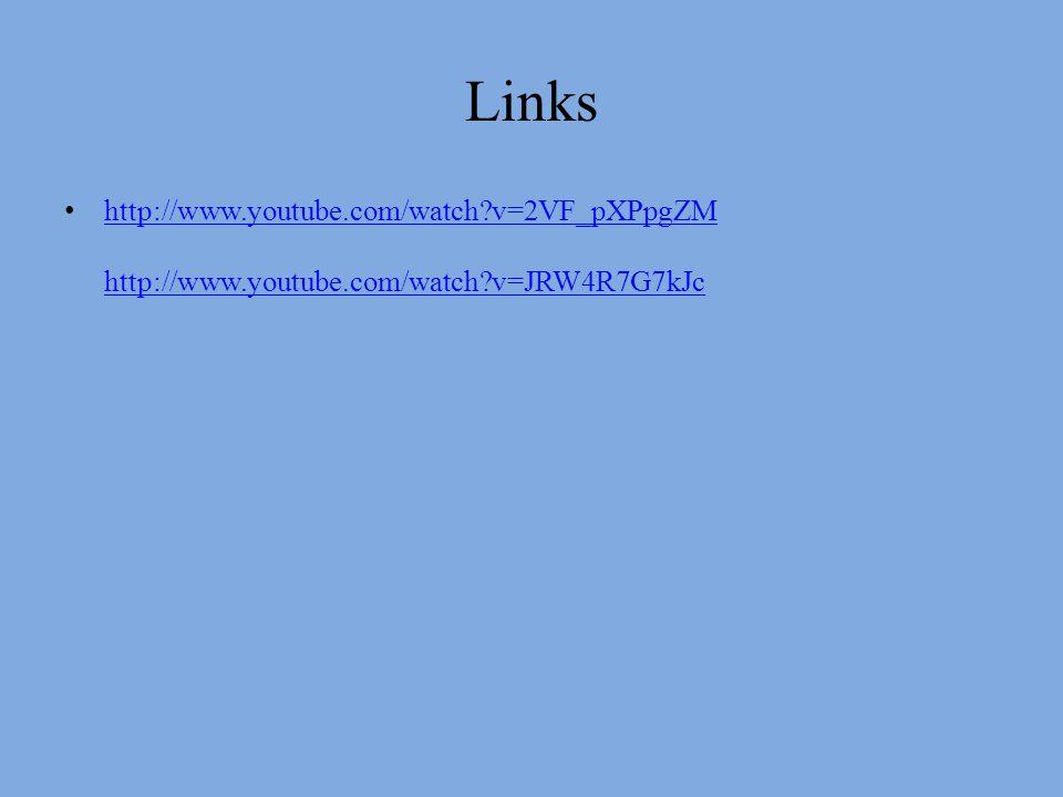 Links http://www.youtube.com/watch v=2VF_pXPpgZM http://www.youtube.com/watch v=JRW4R7G7kJc