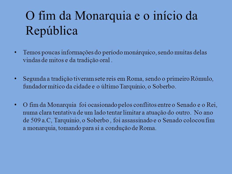O fim da Monarquia e o início da República
