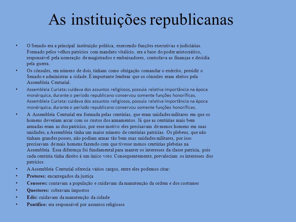 As instituições republicanas